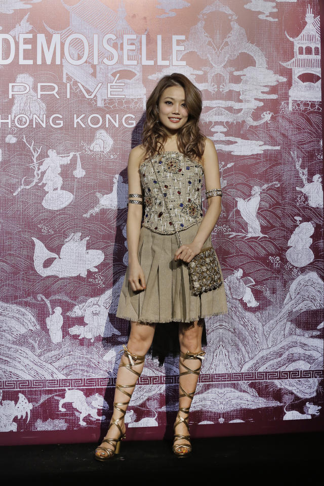 <p>Hong Kong singer Joey Yung at CHANEL Mademoiselle Privé Exhibition in Hong Kong</p>