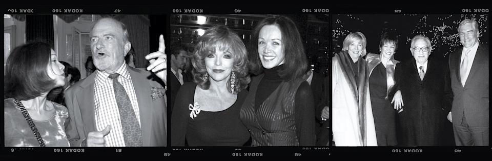 Photo credit: ALAN DAVIDSON/SHUTTERSTOCK (WITH CLAUS VONBULOW); DAVEBENETT/GETTY  IMAGES (WITH JOAN COLLINS)