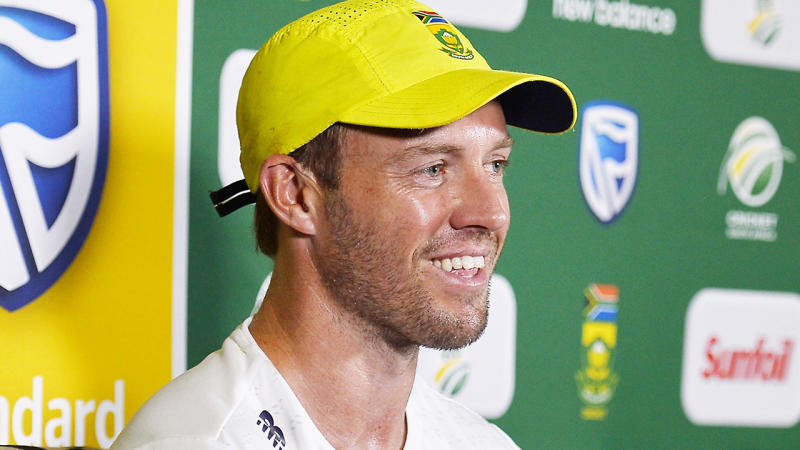 South African cricket AB de Villiers is pictured during a press conference.