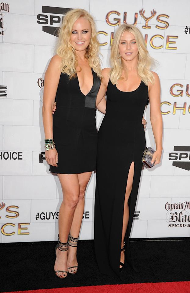 "Malin Akerman and Julianne Hough attend Spike TV's 6th Annual ""Guys Choice"" Awards at Sony Studios on June 2, 2012 in Los Angeles, California."