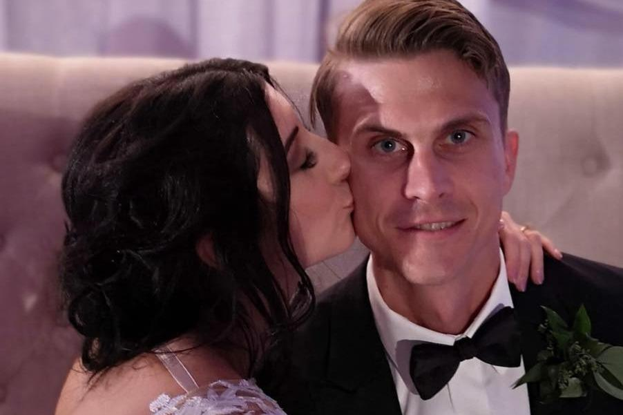 In this photo from a GoFundMe page to raise money for the Witmers, Alex and Jennifer Witmer are seen at their wedding. (GoFundMe)