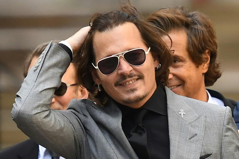 Johnny Depp leaving the High Court in London in July after the final day of his libel trial