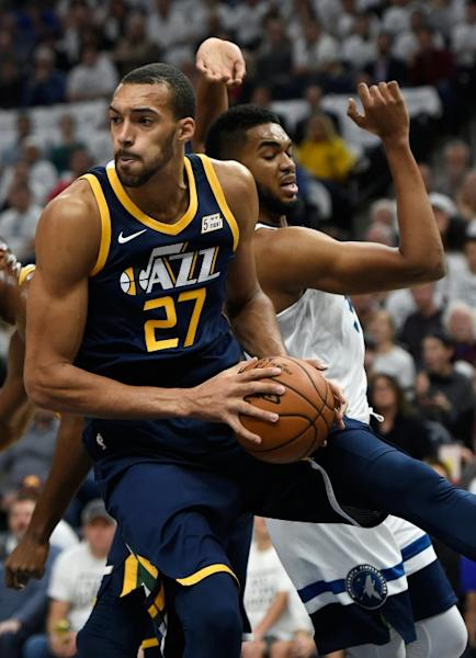 The Utah Jazz snapped a four-game losing skid with a 107-95 win over the Boston Celtics but at a cost, with two key players injured including Rudy Gobert with a knee injury