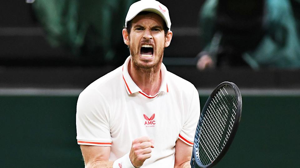 Andy Murray, pictured here during his match with Oscar Otte at Wimbledon.
