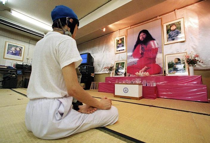 The Aum cult, now renamed Aleph, officially disowned Asahara in 2000, but it has never been banned (AFP Photo/TORU YAMANAKA)