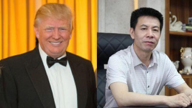 Huachu Tang (right), a Chinese businessman is planning to spend his NYE with President Trump. (Getty Images, Long Pai)