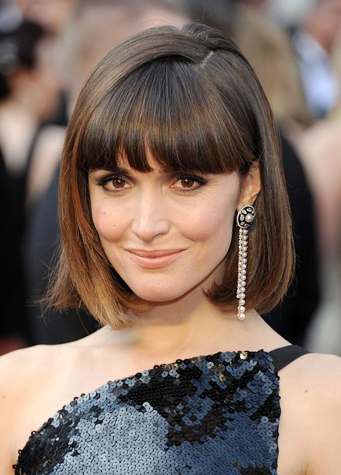 Rose Byrne arrives at the 84th Annual Academy Awards in Hollywood, CA.