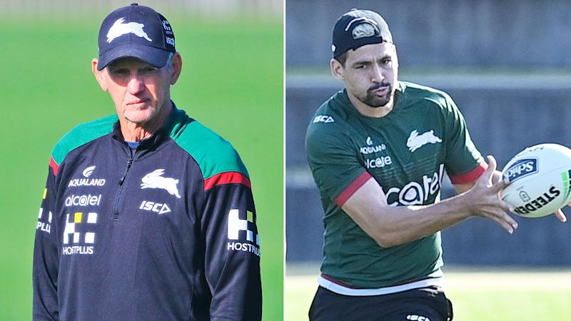 Pictured here, Rabbitohs coach Wayne Bennett and playmaker Cody Walker.