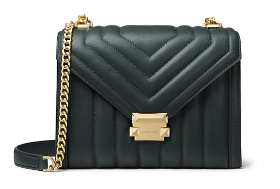 $529 quilted leather bag by Michael Kors. Photo: David Jones