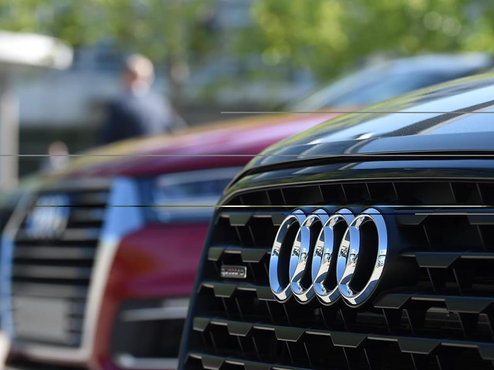 The logo of German carmaker Audi: Christof Stache/AFP via Getty images