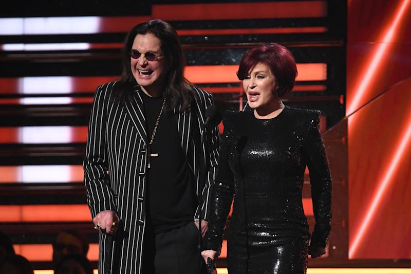 Ozzy Osbourne and Sharon Osbourne present the award for Best Rap/Sung Performance during the 62nd Annual Grammy Awards. (Photo: ROBYN BECK via Getty Images)