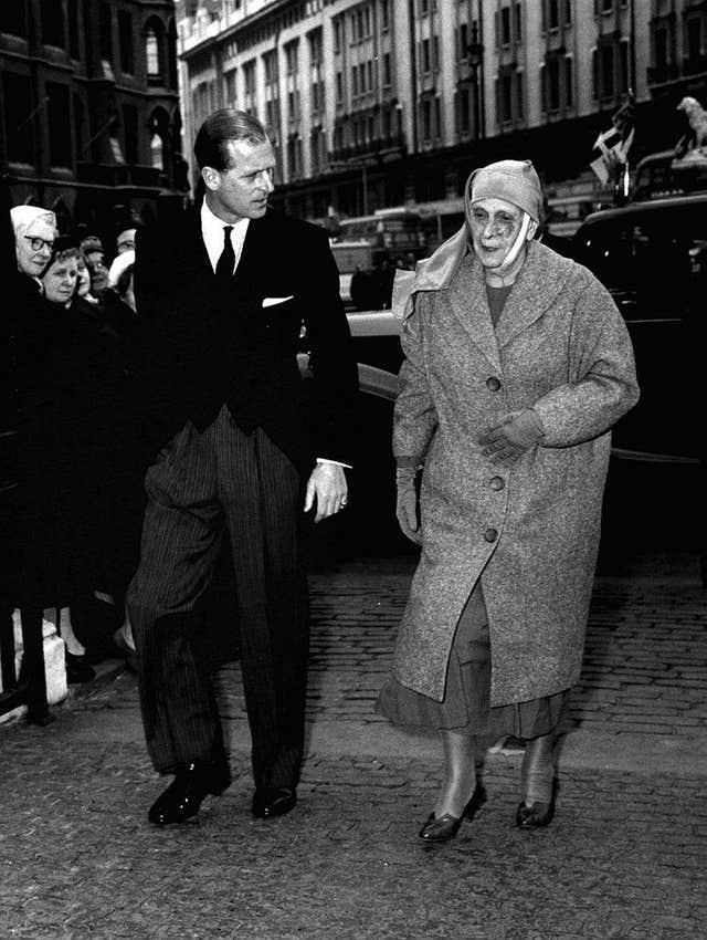 The Duke of Edinburgh with his mother, Princess Alice of Greece