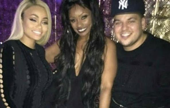 Here Tokyo Toni is pictured with Rob and Blac Chyna. Source: Instagram