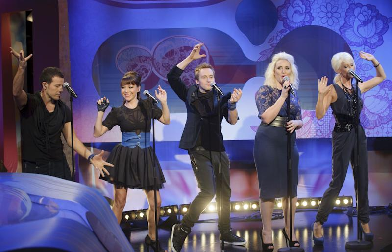 Since the surprisingly glossy Steps reunion tour, the five-piece group have gone all quiet, with Claire Richards appearing on 'Celebrity Big Brother' and Lisa Scott-Lee touring the nation in 'Celebrities On Ice'. As much fun as all that sounds, we do think it's time for Steps to reclaim their throne as the nation's favourite guilty pleasure act, and what better way for it than with Eurovision?