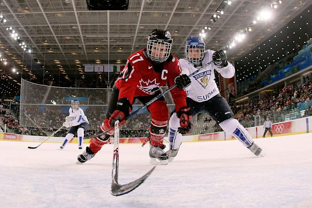 Cassie Campbell-Pascall captained Canada at two Olympic Games. (Getty Images)