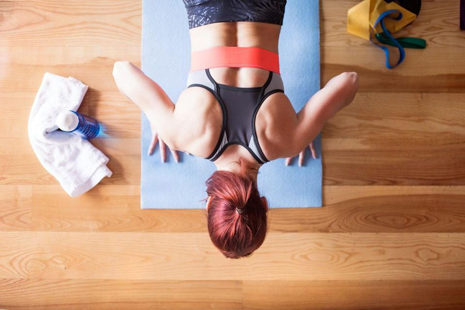 """<p>""""Review your exercise videos and star your favorites! This will make choosing home workouts so much easier than having to scroll or sort through all of the clutter,"""" says Mirkin, of <em><a href=""""https://www.shopetc.com/fillyourplate"""" rel=""""nofollow noopener"""" target=""""_blank"""" data-ylk=""""slk:Fill Your Plate, Lose the Weight"""" class=""""link rapid-noclick-resp"""">Fill Your Plate, Lose the Weight</a></em>.</p>"""