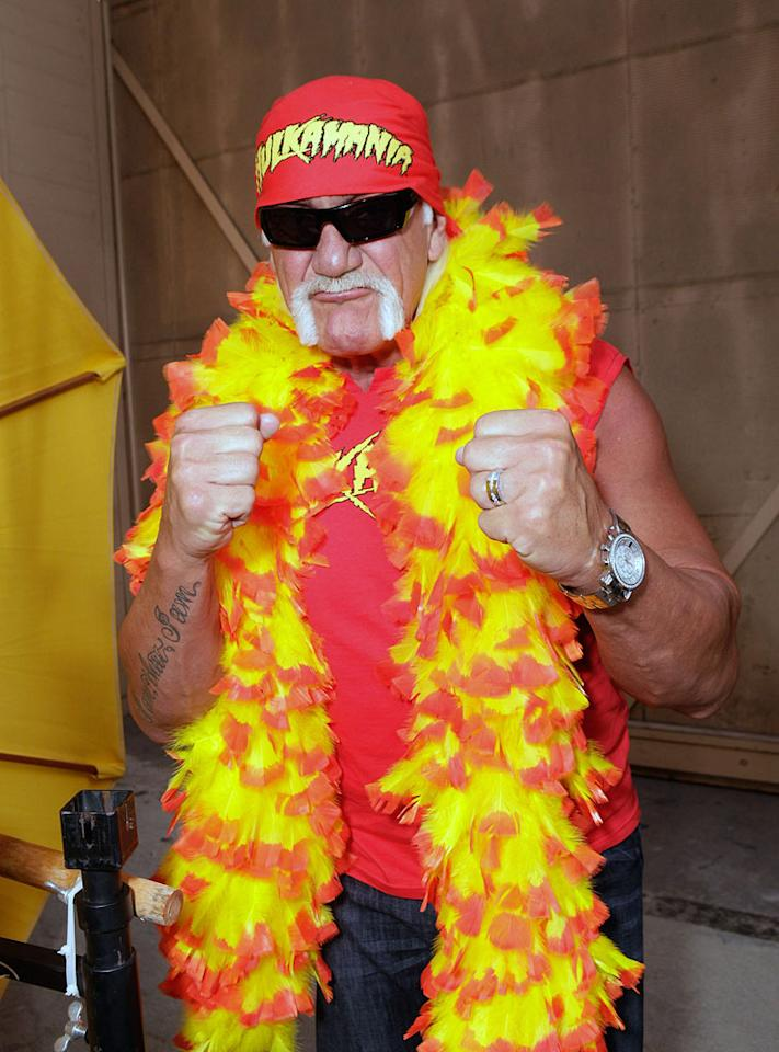 "Still entertaining after all these years, wrestler Hulk Hogan will be 57 on Wednesday, August 11. Todd Williamson/<a href=""http://www.wireimage.com"" target=""new"">WireImage.com</a> - August 1, 2010"