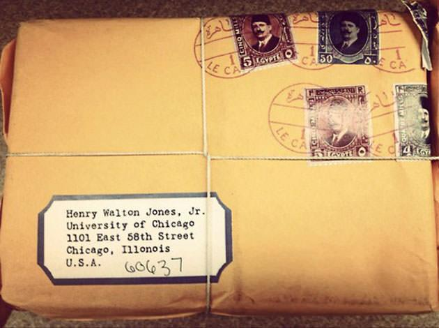 Indiana Jones is still getting mail (photo: UChicago Admissions)
