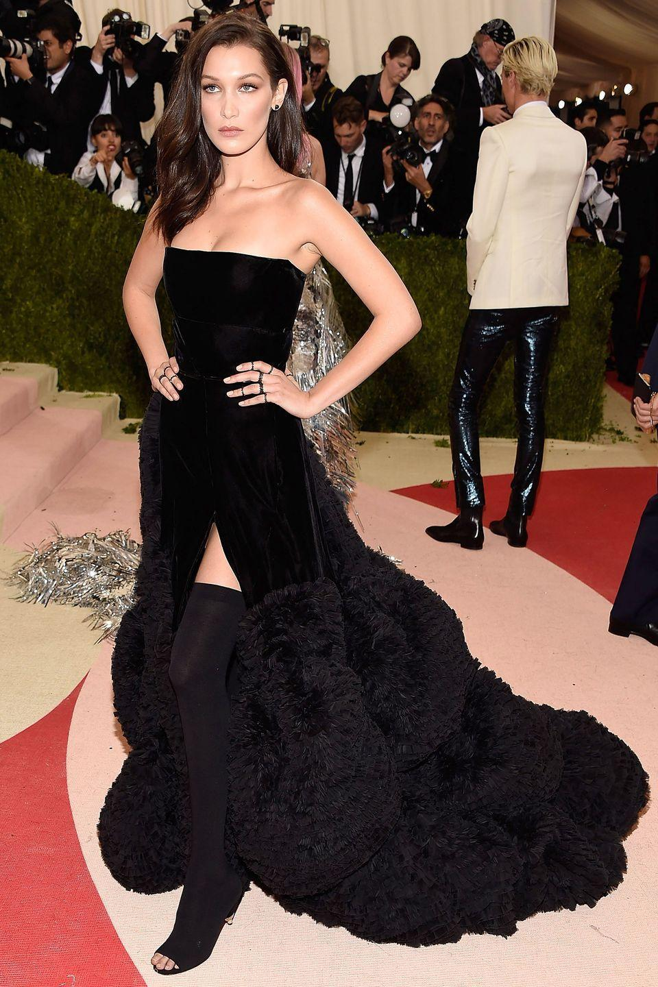 <p>In Givenchy at 'Manus x Machina: Fashion In An Age Of Technology' Costume Institute Gala at Metropolitan Museum of Art in New York City.</p>