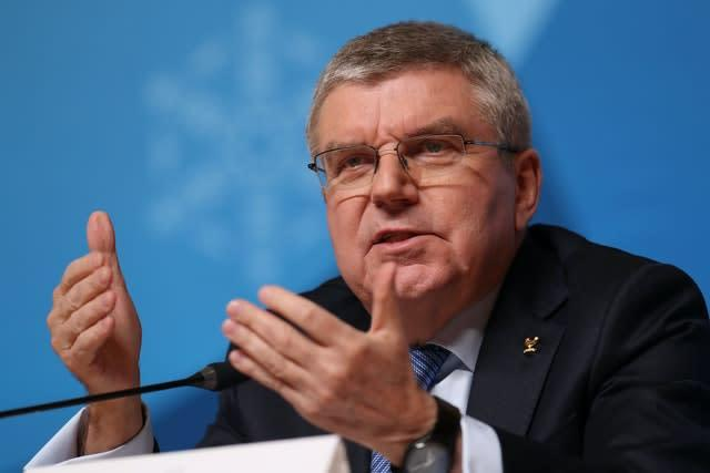 IOC president Thomas Bach says athletes will be asked for their thoughts (Mike Egerton/PA)