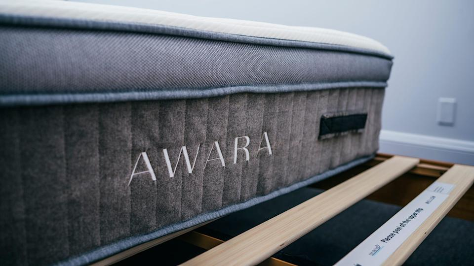 The Awara mattress feels more like a traditional mattress than one that came from a box.