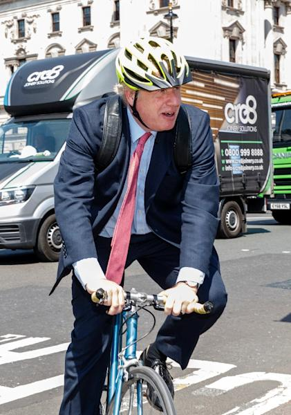 Gaffe-prone Brexit cheerleader Boris Johnson is considered the favourite to replace May (AFP Photo/Tolga AKMEN)