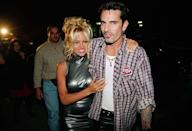 """<p>Model and actress Pamela Anderson has been married <a href=""""https://www.distractify.com/p/celebrities-multiple-marriages"""" rel=""""nofollow noopener"""" target=""""_blank"""" data-ylk=""""slk:four times"""" class=""""link rapid-noclick-resp"""">four times</a>. She was married to Motley Crue drummer Tommy Lee from 1994 to 1998 and to musician Kid Rock from 2006 to 2007. Then she married poker player Rick Salomon (who also was married to Shannen Doherty) in Las Vegas in 2007, but had the marriage annulled less than six months later. They remarried in 2014 but divorced months later.</p>"""