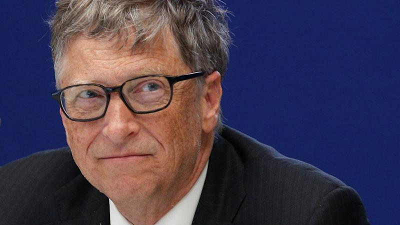 Bill Gates, philanthropist and co-founder of Microsoft, attends a conference at the COP21, United Nations Climate Change Conference, in Le Bourget, outside Paris, Monday, Nov. 30, 2015. (AP Photo/Christophe Ena, Pool)