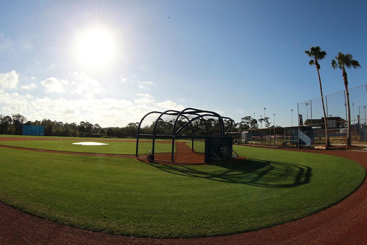 <p>The back fields before morning workouts at the New York Mets spring training facility in Port St. Lucie, Fla., Wednesday, March 1, 2017. (Gordon Donovan/Yahoo Sports) </p>
