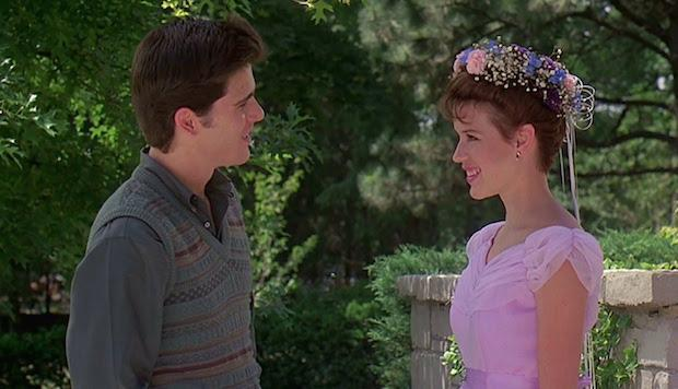 <p> Samantha's (Molly Ringwald) 16th birthday turns out to be less sweet than anticipated. The object of her affection, the hunky Jake Ryan (Michael Schoeffling) has gotten wind that she's nuts about him, the school geek (Anthony Michael Hall) is trying to get into her knickers, and no-one has remembered her birthday... </p> <p> John Hughes' teen romance is over 30 years old and still gives more recent high school flicks a run for their money. A good dose of one-liners, a charming central performance from Ringwald, and two guys vying for a woman's attention. It's the perfect romcom formula. </p>