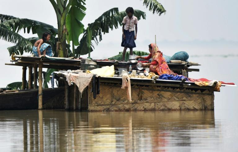 Bad weather and damaged infrastructure are affecting rescue and relief work in India's flood-hit regions