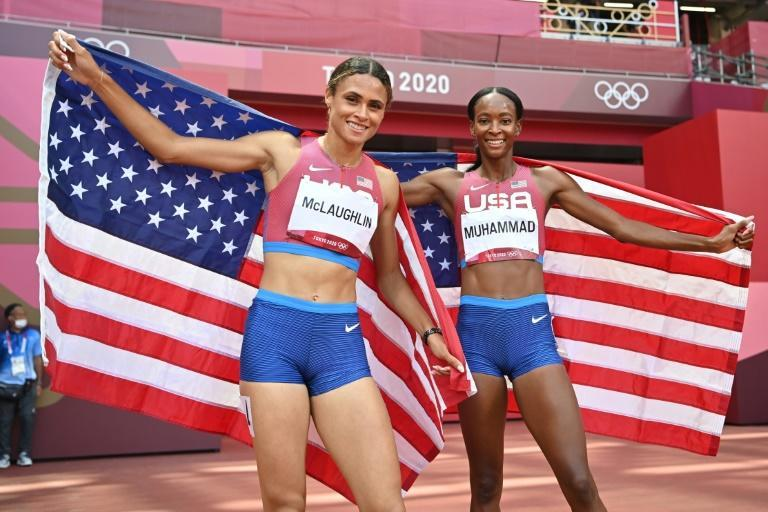 Sydney McLaughlin and silver medallist Dalilah Muhammad were both inside the previous 400m hurdles world record