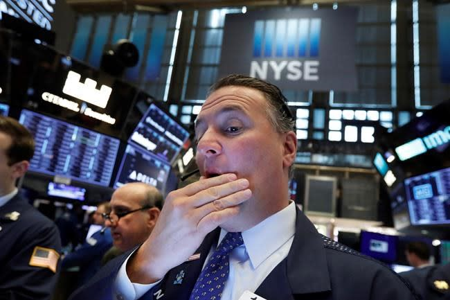 Markets Right Now Stocks sink as trade war escalates