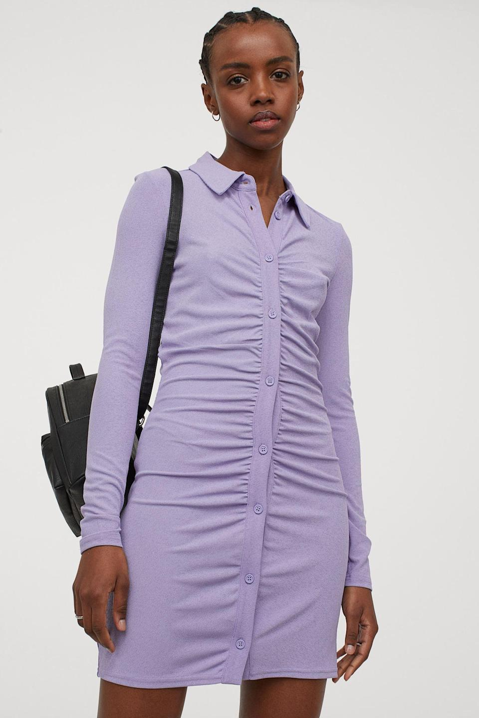 <p>The gathered fabric of this <span>Draped Dress</span> ($25) gives it an air of both elegance and sensuality.</p>