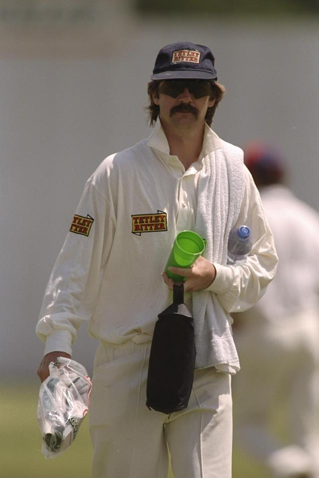 Dec 1996:  Jack Russell of England carries the drinks during England's tour match against Matabeleland in Bulawayo, Zimbabawe.  Mandatory Credit: Clive Mason/Allsport