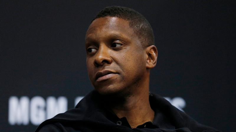 Toronto Raptors president of basketball operations Masai Ujiri will do everything in his power to ensure that his team can legitimately defend the Larry O'Brien Trophy. (Michael Reaves/Getty Images)