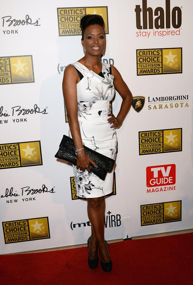 LOS ANGELES, CA - JUNE 10: Actress Aisha Tyler arrives at Broadcast Television Journalists Association's third annual Critics' Choice Television Awards at The Beverly Hilton Hotel on June 10, 2013 in Los Angeles, California. (Photo by Jason Merritt/Getty Images)
