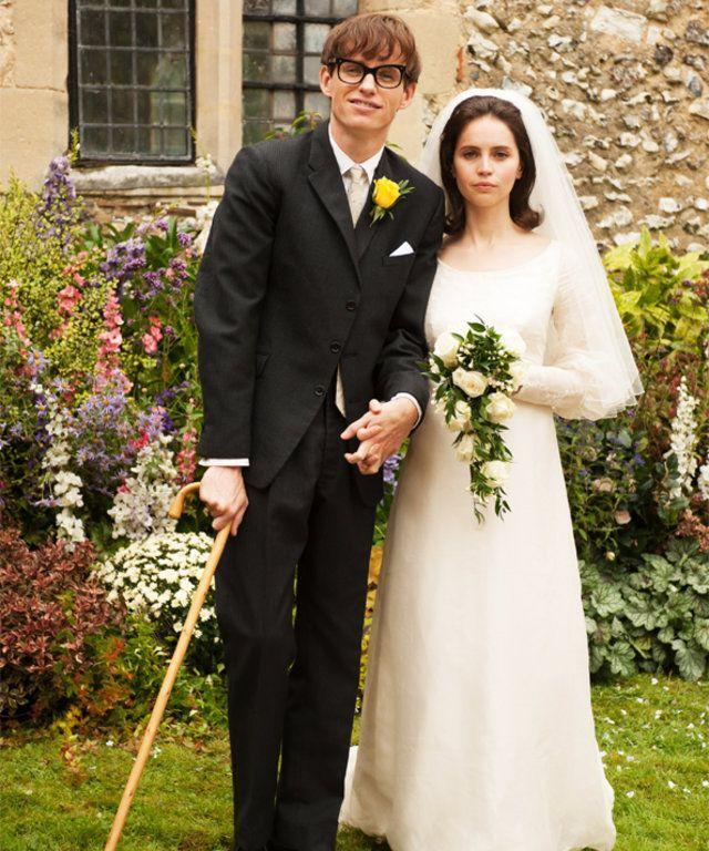<p>The love story of physicist Stephen Hawking (Eddie Redmayne) and Jane Wilde (Felicity Jones) has many great moments, including Jane's understated wedding dress.</p>