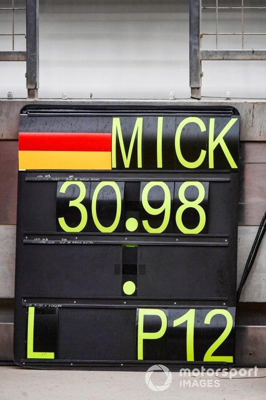 "Pit board de Mick Schumacher, Ferrari <span class=""copyright"">Mark Sutton / Motorsport Images</span>"
