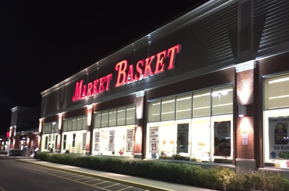 The ominous glow of a Wilmington, Mass. grocery store, Market Basket, which some shoppers say is haunted. (Photo: Yelp)
