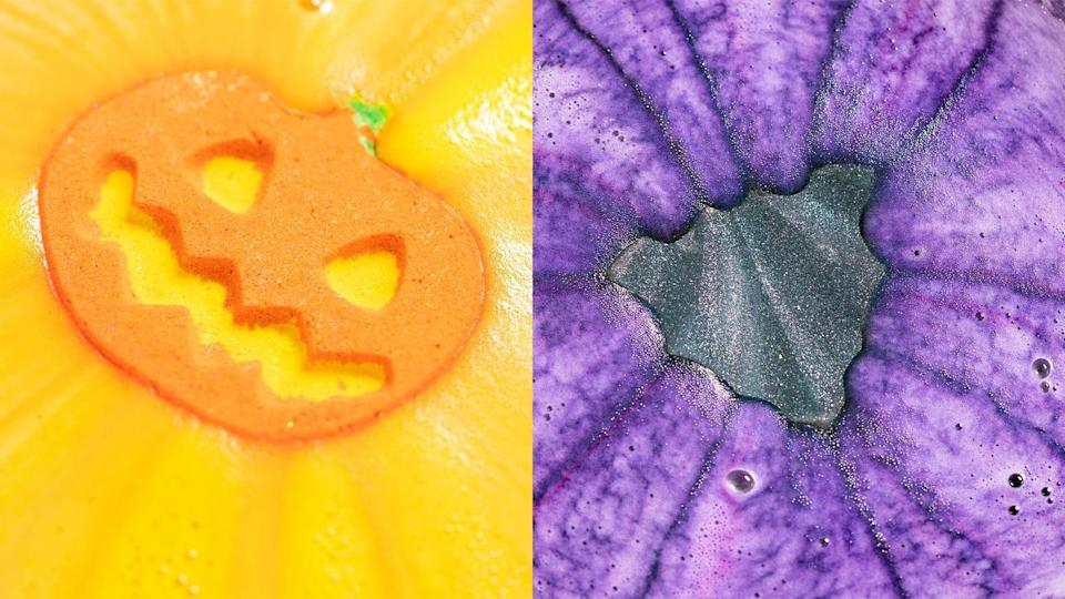Soak in a spooky-themed tub with Lush bath bombs.