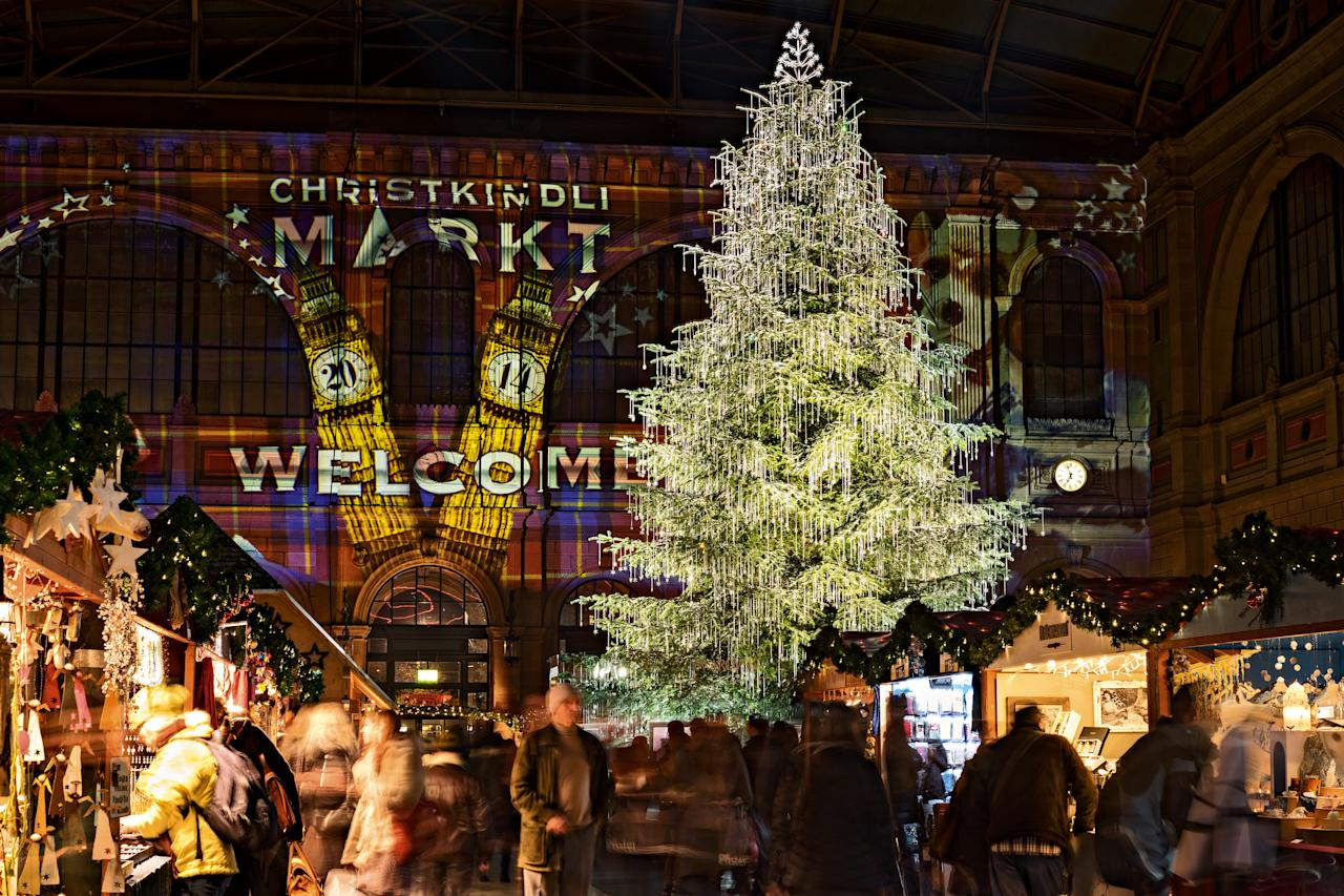 "<p>Zurich is full of Christmas markets – try the city's most historic in the picturesque Old Town, or head to the urban ""Wienachtsdorf"" Christmas village on Sechseläutenplatz. You'll also find lots of festive cheer, gooey fondue, mulled wine – and a 15 metre-high Christmas tree at Zurich Main Train Station. <em>[Photo: MySwitzerland.com]</em> </p>"