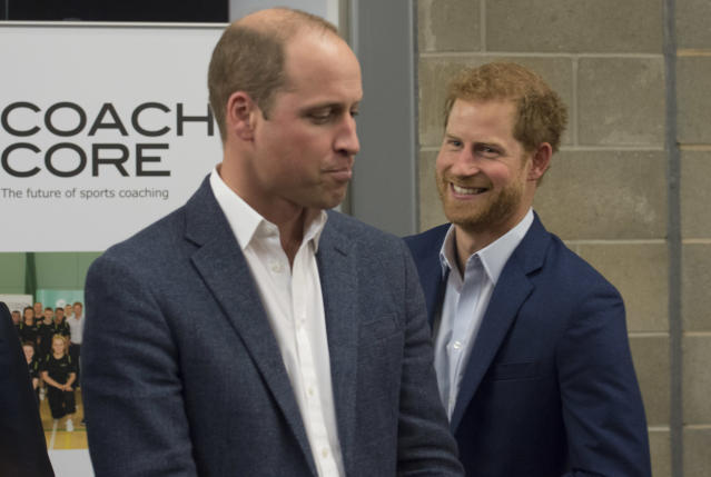 Prince William is the best man at the wedding of his brother, Prince Harry, on Saturday, but he might leave to attend a soccer match. Seriously. (Getty Images)