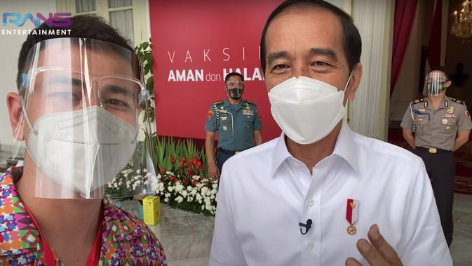 Raffi Ahmad dan Presiden Jokowi. (Foto: YouTube RANS Entertainment)