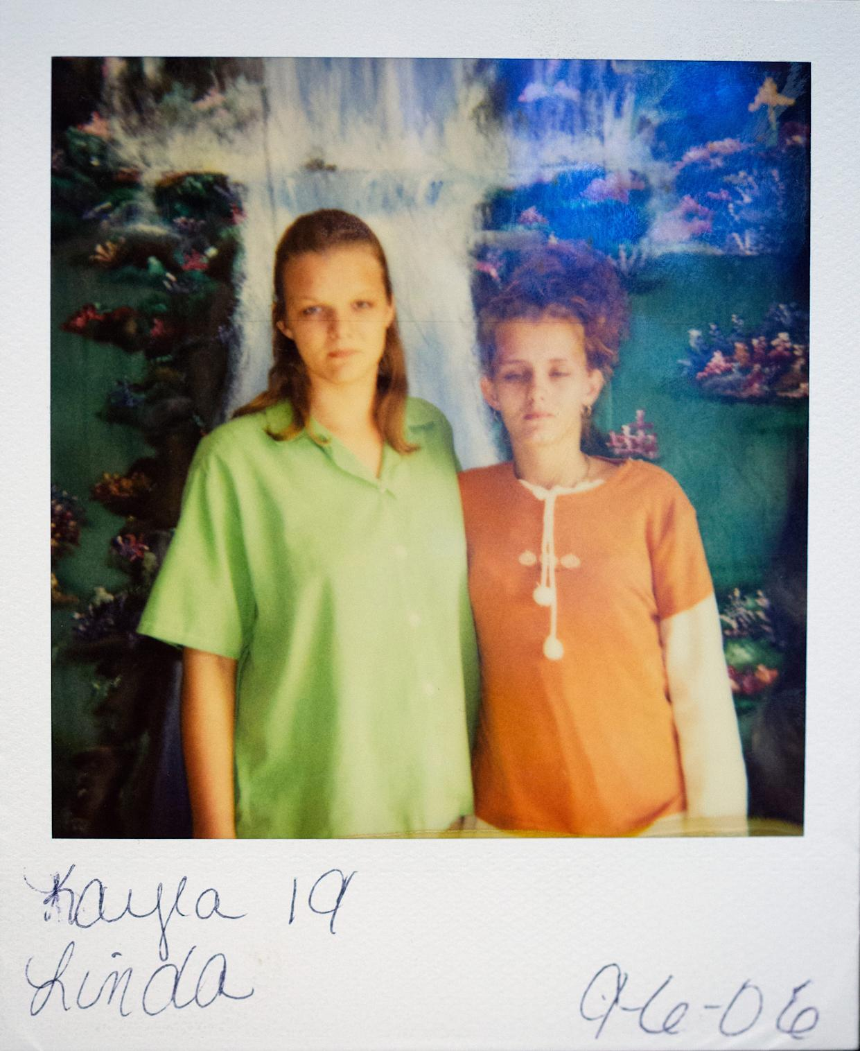 A polaroid taken September 6, 2006, of Kayla Artessia, 19, left, and Linda Mills, 21, taken when Kayla was serving a year in prison for attempting to smuggle in drugs to the jail. Both women allege they were victims of Phillip Malone, 64, when they were 15. He took nude photos of them and had sexual relations. Malone is a former Scioto County Sheriff's dispatcher and former probation officer with the city of Portsmouth. He was fired from both jobs. Malone denies all allegations. Rumors have long circulated in the small city of Portsmouth about men in power taking advantage of vulnerable women. Michael Mearan, prominent Portsmouth attorney, is part of an 80-page affidavit created by the Drug Enforcement Administration in 2015 to obtain permission to wiretap several phone, including Mearan's. It alleges he is part of a sex trafficking network.
