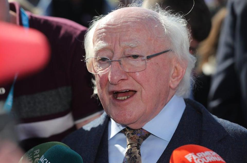 Irish President Michael D Higgins has defended his decision to decline an invitation to a church service marking Northern Ireland's centenary (Niall Carson/PA) (PA Archive)