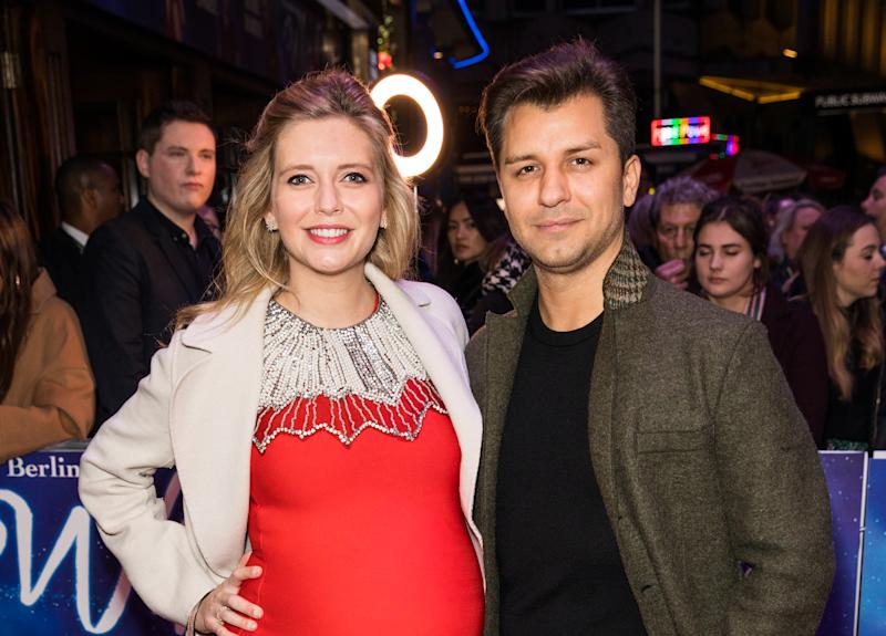 Rachel Riley and Pasha Kovalev attend the White Christmas Musical press night at the Dominion Theatre.- PHOTOGRAPH BY Phil Lewis / Echoes Wire/ Barcroft Media (Photo credit should read Phil Lewis / Echoes Wire / Barcroft Media via Getty Images)