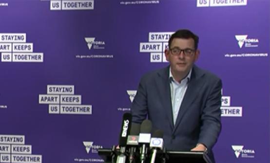Daniel Andrews announced Victoria's second worst day in terms of cases on Tuesday. Source: ABC