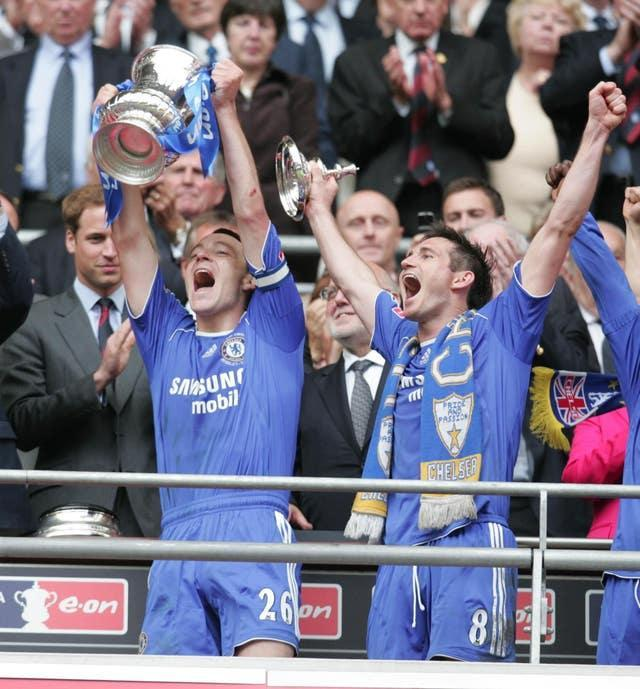 Lampard won his first of four FA Cups in 2007 when Chelsea defeated Manchester United 1-0 to lift the trophy