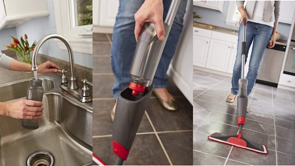This microfiber floor mop from Rubbermaid is a one-stop-cleaning-shop.